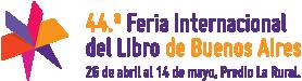 Logo 44.° Feria Internacional del libro de Buenos Aires