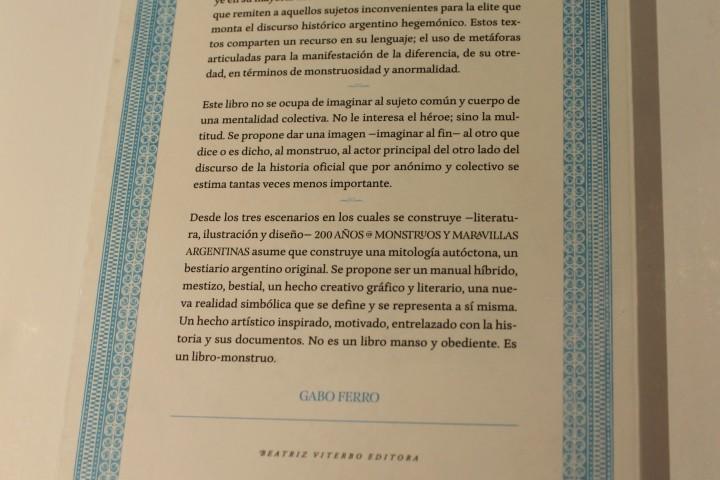 200 años de monstruos y maravillas argentinas - Laura Varsky (2)- Mención Honorífica categoría No Ficción