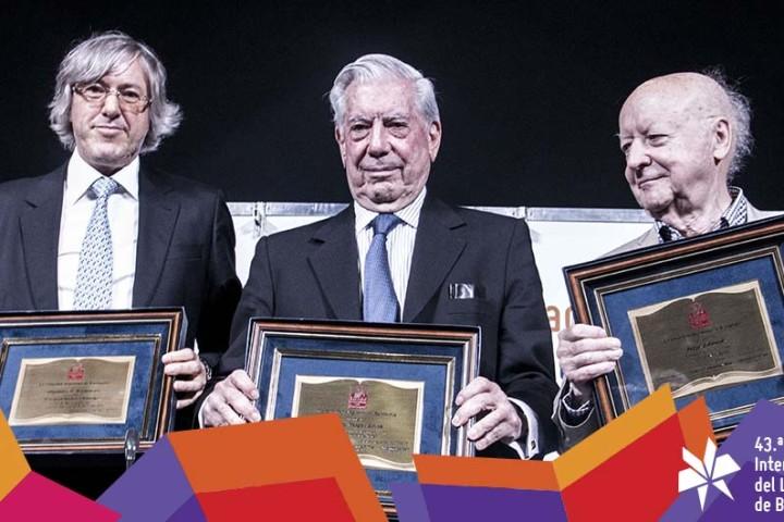 Alejandro Roemmers, Mario Vargas Llosa y Jorge Edwards